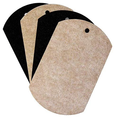 EZ Moves Furniture Slides for Hardwood, Tile and Other Hard Surface Floors, 8 x 5 Inches (Set of 4)