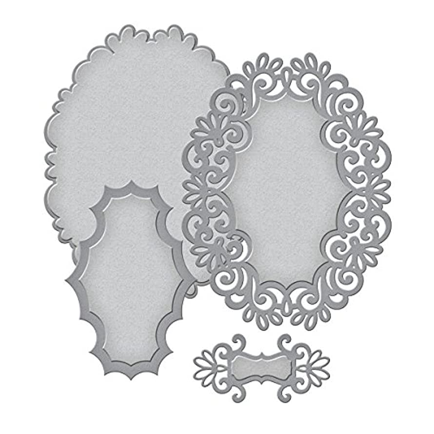 Spellbinders S4-447 Shapeabilities Heirloom Oval Etched/Wafer Thin Dies