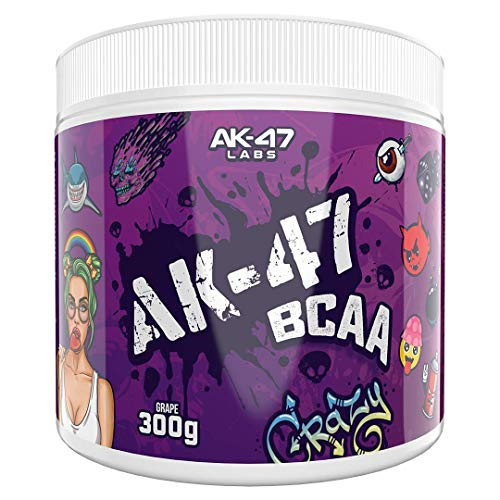AK 47 Labs BCAA Powder | Sugar Free Branched Chain Amino Acids Supplement with Electrolytes for Recovery & Hydration - 300g / 30 Servings - 7.5g BCAAs for Men & Women | Grape