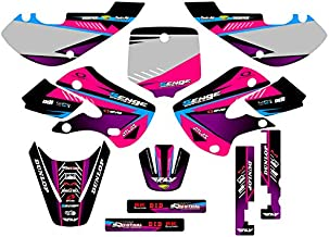 Senge Graphics kit compatible with Kawasaki 2002-2009 KLX 110, Surge Pink Graphics Kit