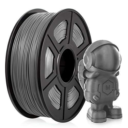 Filamento PLA 1,75 mm, Filamento PLA para impresora 3D, Filamento PLA 1 KG (2,2 lb)PLA Gris(Grey)
