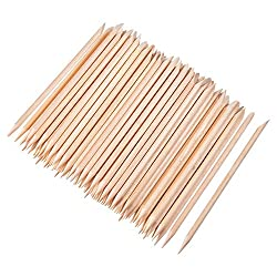 Quantité: 100 morceaux de bâtons de bois orange, grande quantité pour l'usage avec une longue période; Couleur: couleur du bois Conception: chaque bâton a deux extrémités, une extrémité pointue et une extrémité plate, l'extrémité pointue peut être ap...