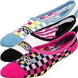 Vans Sneaker Footie 3er Pack Socken Damen (37-41, Zoo Check)
