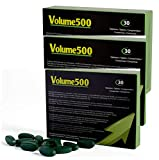 VOLUME500: Increase The Quantity and Quality of Sperm up to 500% More Volume (3 Boxes of 90 Tablets)