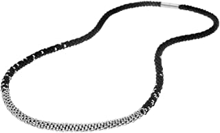Beadaholique Long Beaded Kumihimo Necklace - Black & Silver - Exclusive Jewelry Kit