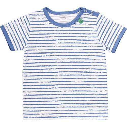 Fred'S World By Green Cotton Ocean Stripe S/s T T-Shirt, Bleu (Blue 019403901), 86 Bébé garçon