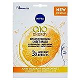 NIVEA Q10PlusC Mascarilla de Tejido Antiedad + Energizante (1 ud), mascarilla antiarrugas con 3...