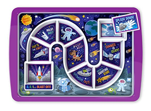 Genuine Fred Dinner Kids Food Tray, Standard, Outer Space