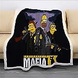 NICHIYO The Simpsons Wohndecke Kuscheldecke Fleece