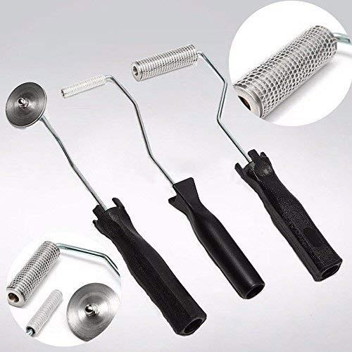 WYJW gereedschap van glasvezel GRP, 3-delige set / lamineerrol voor bellen van glasvezel aluminiumlegering voor hars FRP GRP