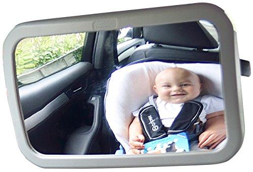 Lescars Autospiegel: Baby-Spiegel fürs Auto (Rückspiegel Baby Auto)