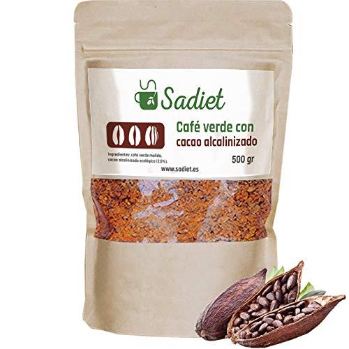 Cafe verde 500 gr, infusion diuretica y saciante (cafe verde con cacao alcalinizado 500 gr)