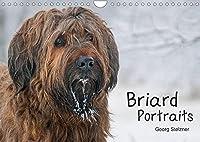 Briard Portraits (Wandkalender 2022 DIN A4 quer): Momentaufnahmen auf Augenhoehe (Geburtstagskalender, 14 Seiten )