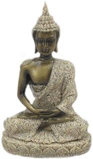 Estatua Estatuilla de Piedra Arenisca Escultura de Buda Meditación Tallada a Mano #1