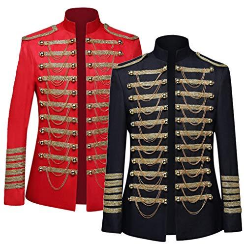 ODRD Herren Prinzenkostüm | Prince Charming | Deluxe Kostüm | Herrenkostüm König | Männer Europäischen Stil Court Kleid Militärische Kleidung Leistung Prinz Military Uniforms (Mäntel(R2), XL)