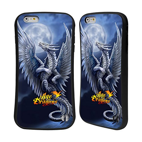 Head Case Designs Oficial Anne Stokes Plata Edad de los Dragones Carcasa híbrida Compatible con Apple iPhone 6 Plus/iPhone 6s Plus