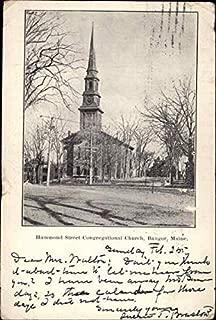 Hammond Street Congregational Church Bangor, Maine Original Vintage Postcard