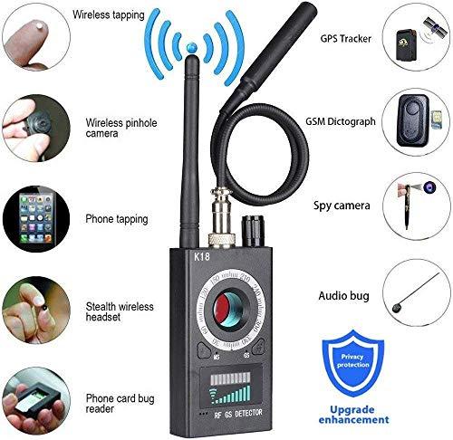 ZGYQGOO RF-Signal-Fehlerdetektor, Anti-Spionage-Detektor, Spionage-Kamera-Finder, kabelloser Signal-Loch-Laser für versteckte Kamera Auto GPS-Tracker GSM-Abhörgerät-Finder