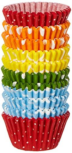 RBV Birkmann, bunt gemustert, 440869, Easy Baking, Mini-Muffin-Papierförmchen, 200 Stück, Ø 4,5 cm, Papier