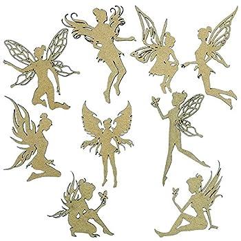 Creative Embellishments Scrapbook Laser Cut Chipboard Fairies Set of 9