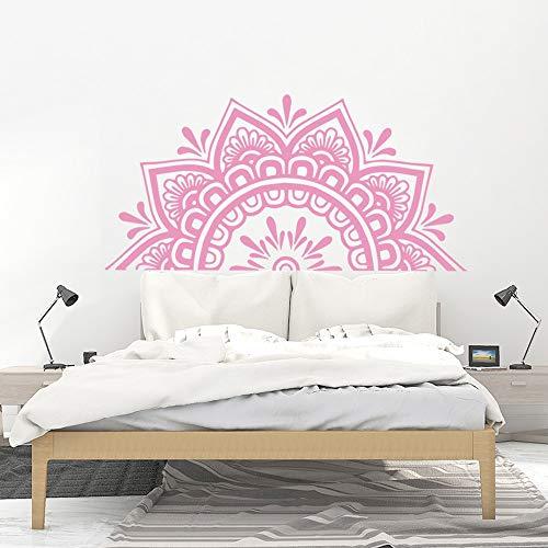 Mandala flor pegatinas de pared sala de estar dormitorio decoración de la pared arte de fondo autoadhesivo pegatinas de flores A5 28x57cm