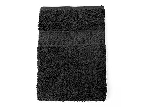 Soleil d'Ocre 441043 Drap de Bain Coton Noir 70 x 130 cm