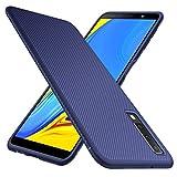GeeMai Samsung Galaxy A7 2018 Hülle, [Blau Soft Hülle] Ultra Thin Silikon Schutzhülle Tasche Soft TPU Hüllen Handyhülle für Samsung Galaxy A7 2018 Smartphone