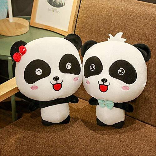 NC86 2 Paar Riesenpanda-Plüschpuppen Geburtstagsgeschenke Bärenspielzeugpuppen Männer und Frauen Größe: 35cm-1_Paar