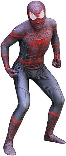 ZYFDFZ Spiderman Ultimate Miles Cosplay Kostüm Erwachsene Einteilige Strumpfhosen Bühnenshow Requisiten Halloween Kostüme Cosplay Requisiten (Farbe   A, Größe   L)