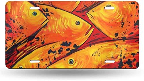 Dom576son 15,2 x 30,5 cm Nummernschild, Aluminiumschild, Papageienfisch 50 Staat, personalisierbar, für Auto, Fahrrad, Motorrad, Moped, Schlüsselanhänger, Nummernschild
