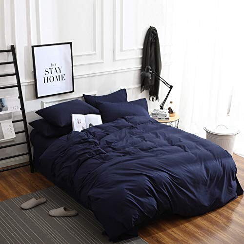 unknow Bed Sheets, Solid Color Bedding, Four-Piece Duvet Cover, Three-Piece Cotton Bed Linen And Home Textile