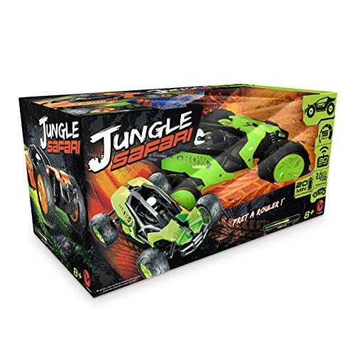 Modelco- Voiture Jungle Safari 2.4 Ghz livrée prête à Rouler, 90041.004, Orange et Vert