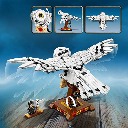 LEGO 75979 Harry Potter Hedwig the Owl Figure Collectible Display Model with Moving Wings