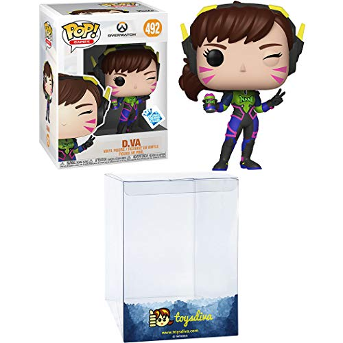 D.Va (Funk o Insider Club Exc): Funk o Pop! Games Vinyl Figure Bundle with 1 Compatible 'ToysDiva' Graphic Protector (492 - 37434 - B)