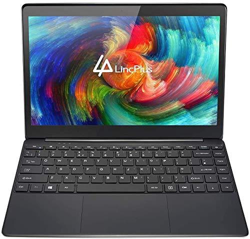 LincPlus P1 Laptop Ultrabook Full HD da 13,3 pollici, Intel Celeron N4000 4 GB di RAM 64 GB eMMC aggiornabile con SSD fino a 512 GB,notebook in alluminio compatto e tastiera QWERTY