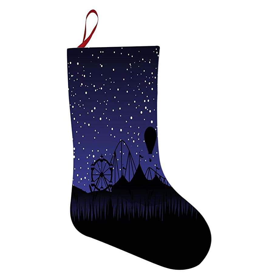 Star Amusement Park Personalized Christmas Stockings for Use to Decorations, Parties, Gifts.