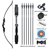 """Tongtu 53.5"""" Archery Recurve Bow and Arrows Set Adult 30 40LBS Takedown Bow"""