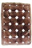 Alpacaandmore Alfombra de piel de alpaca peruana peruana para salón, diseño de cubos (200 x 180 cm)
