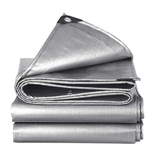 Schattierungsnetz WDX für den Außenbereich, dicker Kunststoff, Sonnenschutz, LKW, Segeltuch, verschleißfest, silberfarbene Sonnenschutz-Isolierung, 5*7m