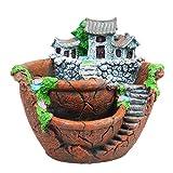 Creativo Flower Pot piante grasse creativa del supporto del micro Paesaggio resina Brown per scrivania accessori della decorazione del giardino giardino