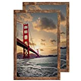 24x36 Poster Frame Smooth Wrap Finish 24x36 Frame MDF Wooden Picture Frames, Wall Hanging With Mounting Hardware, 2 Pack