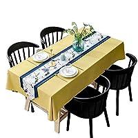 布のテーブルクロス - ノルディック家庭用リネンのテーブルクロス、単純な長方形の黄色のテーブルクロステーブルクロス高級レストラン (Size : 90x130cm)