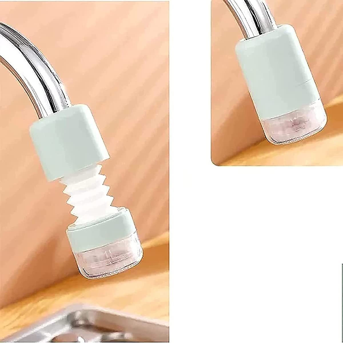 KJGFES 4PCS 360-degree Adjustable faucets Bombing new work Milwaukee Mall Extensio Splash-Proof