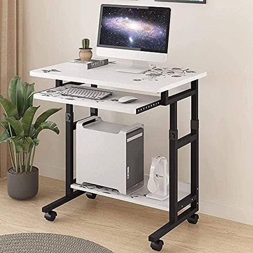 Moderno de pie, escritorio de la computadora, escritorio de la computadora portátil móvil con ruedas, estufa, madera, madera, escritorio, escritorio, escritorio, escritorio para el hogar, sala de