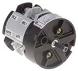 Bremas CA0250004 - Interruptor giratorio para lavavajillas Comenda AC122, AC152, AC182, AC202, AC242, AC151, eje 5 x 5 mm, conexión roscada 4