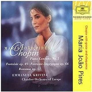 Maria João Pires ~ Chopin - Piano Concerto No, 1 · Fantasie op. 49 · Fantasie-Impromptu op. 66 · Berceuse op. 57 / COE · Krivine
