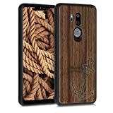 kwmobile Wood Case Compatible with LG G7 ThinQ/Fit/One -