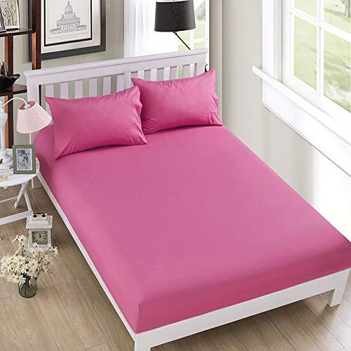 HPPSLT colchón Acolchado, antialérgico antiácaros, Funda Antideslizante para sábana-Carmine_135 * 200cm