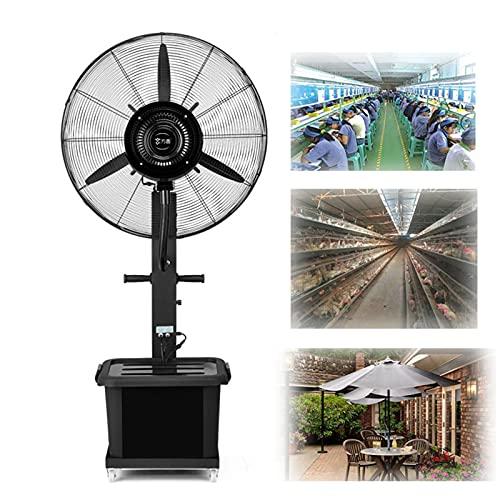 YSJX Ventilador de Pie Industrial,con función de pulverización (Negro),circulador de Aire de 3 velocidades para Trabajo Pesado,para talleres de fábrica,Catering al Aire Libre (Size : 55x165cm)