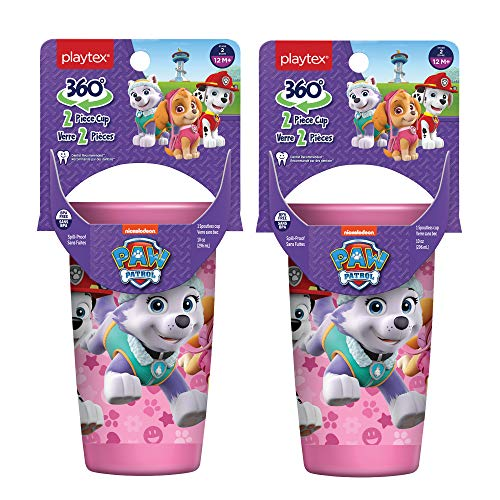 Playtex Sipsters Stage 2 360 Paw Patrol Spill Proof Leak Proof Break Proof Spoutless Cup For Girls 10 Ounce Pack Of 2 Brickseek